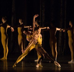 """Lia Cirio and Roddy Doble in William Forsythe's """"Artifact"""" Photo by Rosalie O'Connor"""