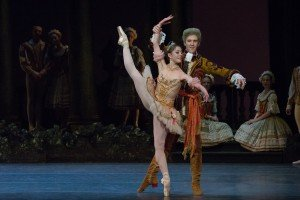 """Hannah Bettes and Roddy Doble in Marius Petipa's """"The Sleeping Beauty"""" Photo by Brooke Trisolini"""