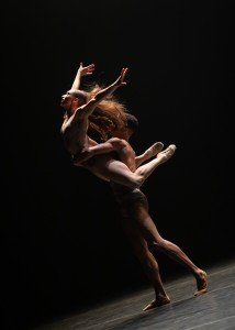 "Shanna Irwin and Maxfield Haynes in Dwight Rhoden's ""Spill,"" in ""From Then To Now"" Photo by Steven Pisano"
