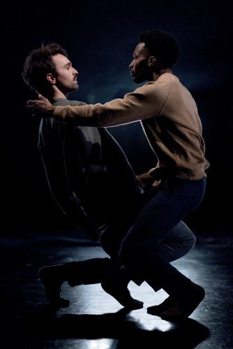 James Cousins Company, In Between Us Is Me, dancers Georges Hann and Rhys Dennis Photo: Camilla Greenwell