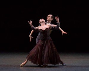 """Sara Mearns and Jared Angle in Jerome Robbins's """"In The Night"""" Photo by Erin Baiano"""