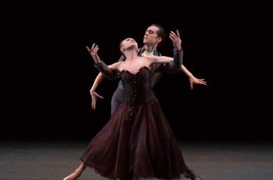 "Sara Mearns and Jared Angle  in Jerome Robbins's ""In The Night""  Photo by Erin Baiano"