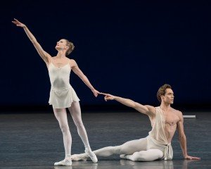 "Sterylin Hyltin and Gonzalo Garcia  in George Balanchine's ""Apollo"" Photo by Paul Kolnik"