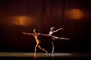 "Ask la Cour and Teresa Reichlen in George Balanchine's ""Orpheus"" Photo by Paul Kolnik"