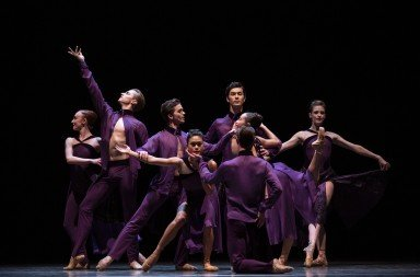 "Pacific Northwest Ballet dancers  in Matthew Neenan's ""Bacchus""  Photo by Angela Sterling"