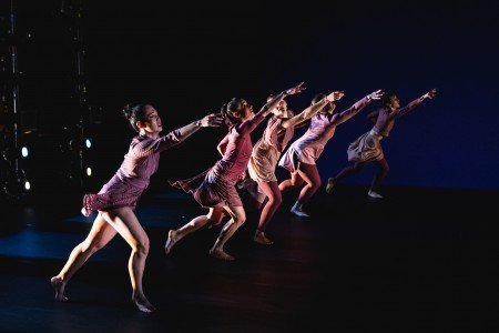 "Members of Ariel Rivka Dance in Ariel Grossman's ""She"" Photo by David Gonsier"