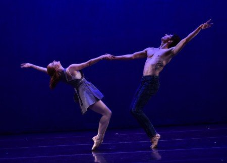 "Abigail Mentzer and Barton Cowperthwaite in Tom Gold's ""Counterpoint"" Photo by Eugene Gologursky"