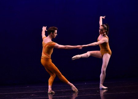 "Evelyn Kocak and Michael Sean Breeden in Tom Gold's ""Significant Strangers"" Photo by Eugene Gologursky"