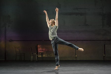 """David Hallberg  in Kim Brandstrup's """"In Absentia"""" Photo by Johan Persson"""