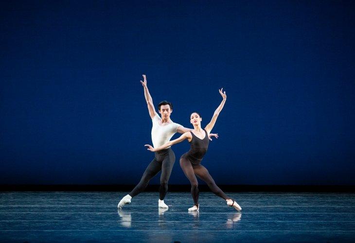 Zecheng Liang and Mayara Pineiro in Stravinsky Violin Concerto Photo: Alexander Iziliaev
